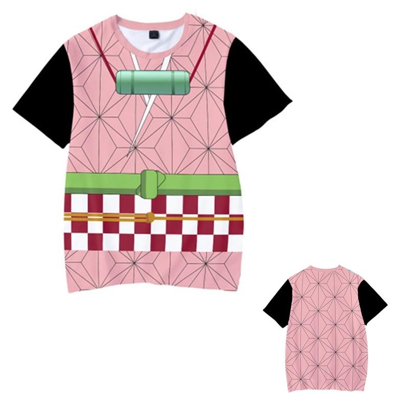 Kids Boys Devils killer T-shirts 3d Print Cosplay Japanese Ghost blade Children Summer Short Sleeve Tshirts Demon Slayer Clothes 5