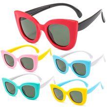 """Детские солнцезащитные очки для мальчиков и девочки; Дети солнцезащитные очки """"кошачий глаз"""", Ультра-мягкий силиконовый UV400 R9CF"""