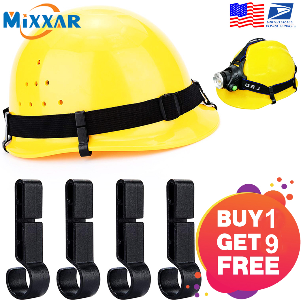 ZK20 Dropshipping Helmet Clips For Headlamp Safety Cap Hook Hard Hat Clip Accessory(BUY 1 GET 9 FREE)