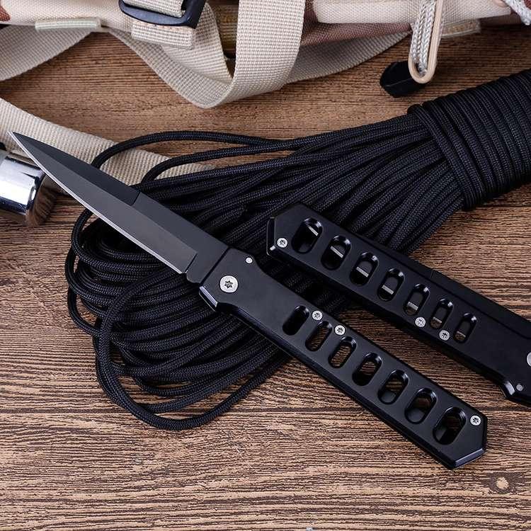 Купить с кэшбэком Tactical 55HRC Hardness 3CR13 Blade Stainless Steel Folding Knife Flipper Ball Bearing Outdoor Camping Survival EDC Tool