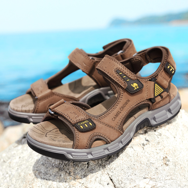 CAMEL High Quality Summer Soft Light Comfortable Men sandals Shoes Outdoor Beach Plus Big Size Casual Non-Slip shoe Man