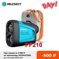 Mileseey-telémetro láser para Golf, Mini telémetro deportivo, medidor de distancia, para caza, PF210, 600M Yd