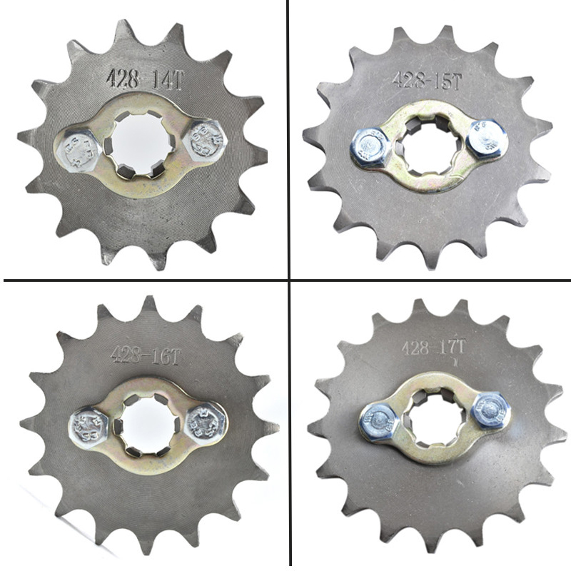 TDPRO 428 Chain 14T 15T 16T 17T 17MM Motorcycle Front Engine Sprocket For 50cc to <font><b>125cc</b></font> Dirt Bike ATV Go Kart Quad <font><b>Pitbike</b></font> Buggy image