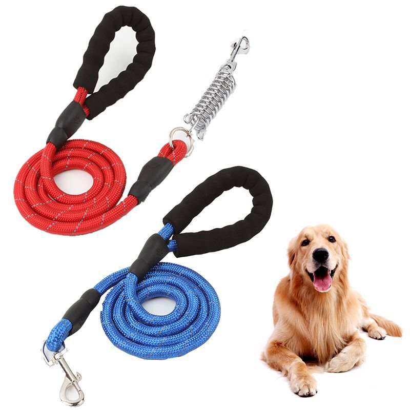 Pet Dog Hand Holding Rope Dog Proof Punch With Spring Reflective Hand Holding Rope Buffer Hand Holding Rope Dog Traction Belt