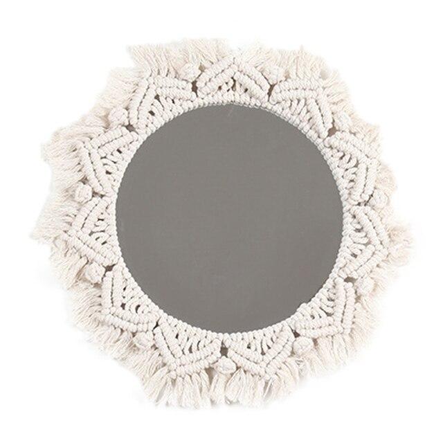 Boho Style Macrame Wall Mirror 5