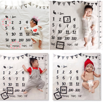 Infant Baby Milestone Blanket Photo Girl Boy Newborn Photography Baby Monthly Shower Blanket
