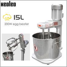 XEOLEO Planetary mixer 15L Dough mixer Stand mixer Commercial Double Stirring bread kneading machine Egg beat machine 200W 220V use the kitchen to beat the egg mixer manually