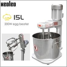 XEOLEO Planetary mixer 15L Dough mixer Stand mixer Commercial Double Stirring bread kneading machine Egg beat machine 200W 220V цена и фото