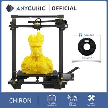 ANYCUBIC Chiron 3d Printer Auto Level Ultrabase impressora 3d Huge Build Volume Modular Design FDM impresora 3d drucker