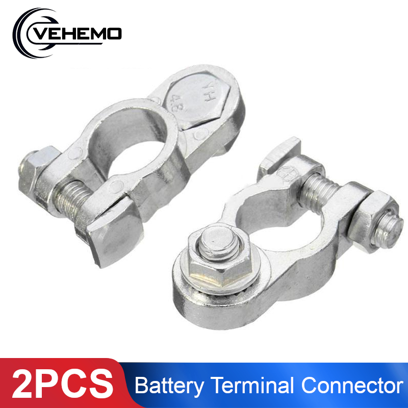 2pcs Aluminum Positive /& Nagative Car Battery Terminal Clamp Clips Connector