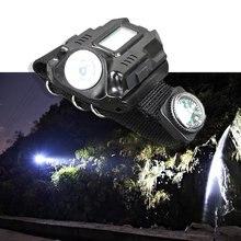 Светодиодные ручные часы для ночного бега специальный фонарик Usb зарядка открытый наручные лампы блики Flashligh