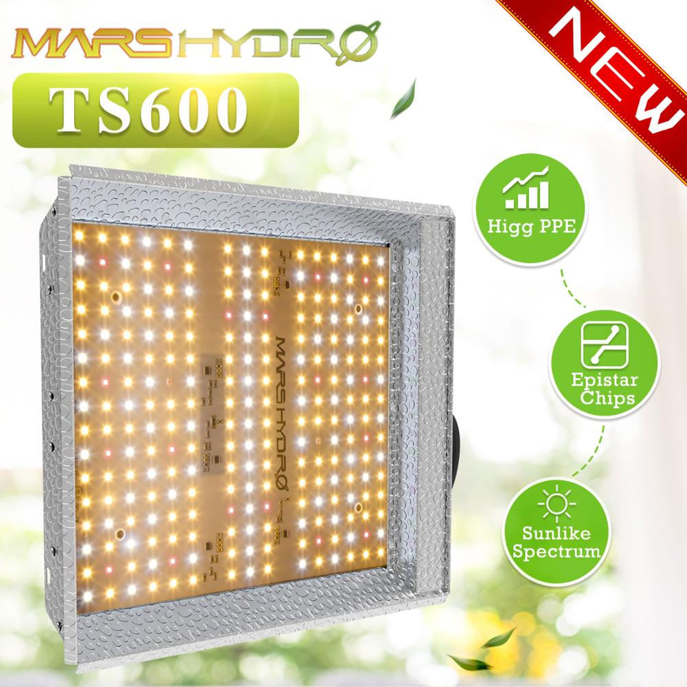 Mars Hydro LED Grow Light TS 600W Full Spectrum Sunlike Replace HPS Indoor Hydroponic Plants Growing Lamp Lights Quantum Board