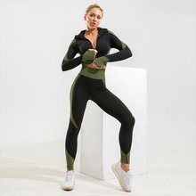 Женский бесшовный комплект для йоги Спортивные костюмы бега