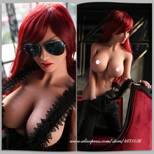 Japanese Silicone Sex Dolls Anime Big Breast Sex Doll, Realistic Full Body Adult Love Doll Metal Skeleton, Real Vagina Oral