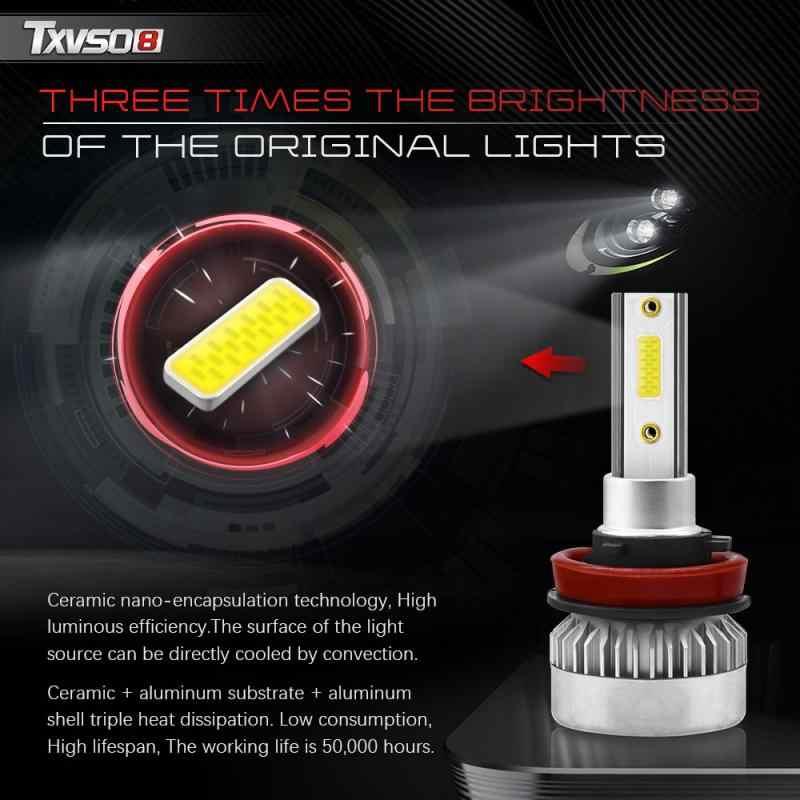 TXVSO8 G1 Series 2 uds faros delanteros LED automotrices H1/H7/9005/9006/9012 110W 6000K bombillas de conducción de automóviles 10000LM/Cada bombilla IP68