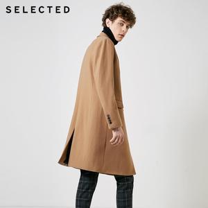 Image 3 - SELECTED Autumn & Winter New Mens Wool Coat Vintage Business Long Woolen Outwear Jacket Coat T