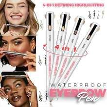4 в 1 определения подсветка водонепроницаемый карандаш для бровей