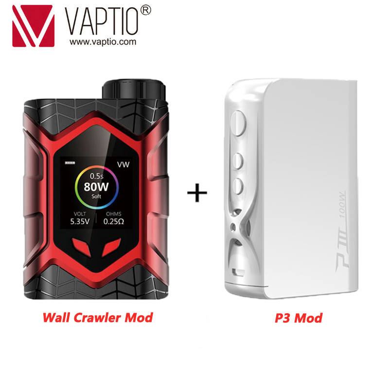 UK SHIPPING!!! Vaptio Wall Crawler E-cigarette Mod Vape 80W Box Mod Power 18650 Battery Compatible With 510 Pin Atomzier