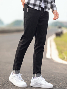 Image 3 - Pioneer Camp Mens Black Jeans Classic Autumn High Quality Pants Casual Straight Denim Trousers Male 2020 ANZ908219A