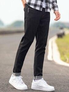 Image 3 - Мужские классические джинсы Pioneer Camp, черные повседневные Прямые брюки из денима, осень 2020, ANZ908219A