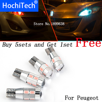 1pc safe No error T10 light 194 W5W high brightness LED Canbus For Peugeot 107 1007 206 207 2008 301 307 308 407 508 607 image