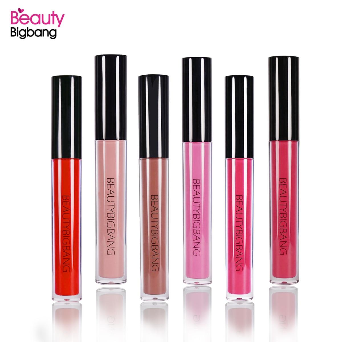 BeautyBigBang Neue Flüssigkeit Lippenstift Lip Farbe Rosa Rot 6 Farbe Matte Lip Stick Wasserdicht Lang Anhaltende Lip Gloss Kit