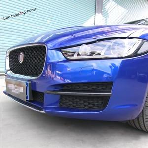 Image 5 - Zubehör Für Jaguar XE 2016   2019 Stoßfänger Vorne Nebel Lichter Foglight Lampe Abdeckung Trim ABS Chrom/Carbon Faser außen Kit