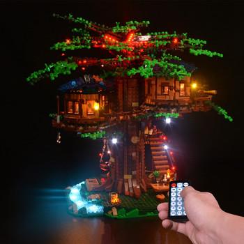 Kyglaring zestaw oświetlenia led dla pomysłów serii 21318 Treehouse (tylko zestaw oświetleniowy w zestawie) tanie i dobre opinie Unisex 6 lat ky21318 BLOCKS Z tworzywa sztucznego Samozamykajcy cegły Digital