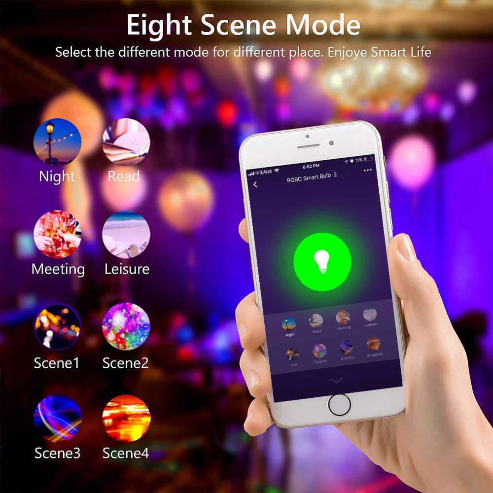 Inteligente Led foco wi-fi Led luz E27 E26 B22 RGBW Color cambiar Luz de WiFi con Led lámpara para Google Alexa eco Control remoto