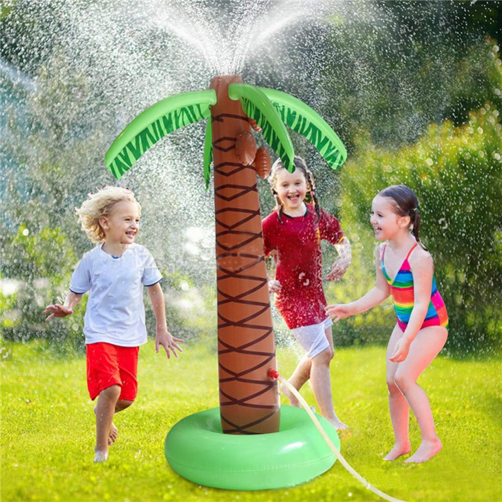 PVC Inflatable Water Spouting Coconut Tree Children's Outdoor Lawn Swimming Toys Game Mat Inflatable jeux gonflable exterieur