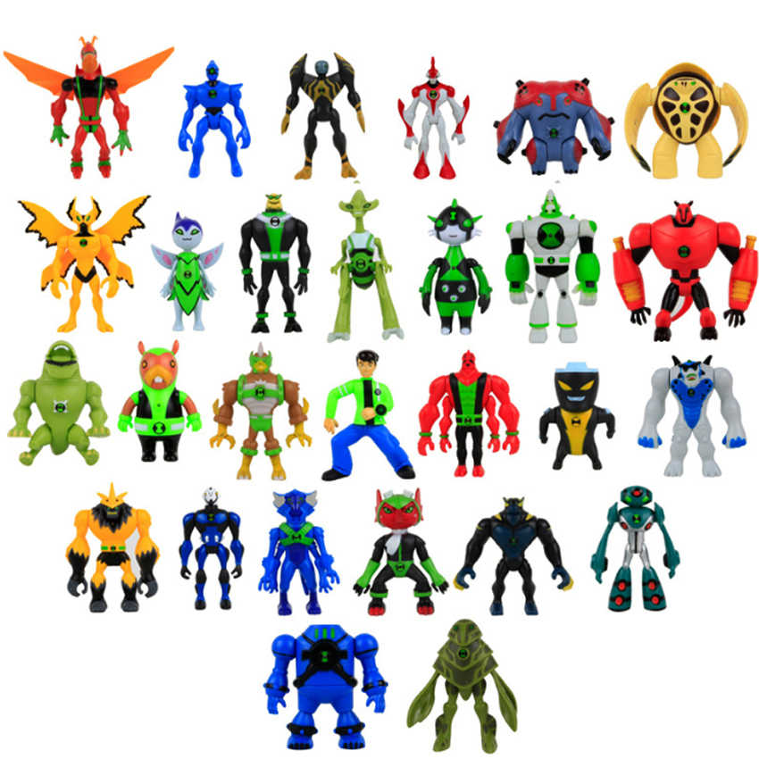 Rohde 10 14cm 7pcs Lot Cartoon Ben 10 Ben Tennyson Widmult Lighting Pvc Ben10 Alien Action Figure Collectible Model Toys Aliexpress