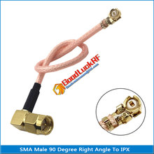 SMA Male Right Angle 90 Degree To IPX U.FL IPEX RF Connector Coaxial Pigtail Jumper RG178 Cable Low Loss
