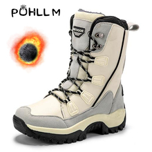 PUHLLM Women Boots Waterproof Winter Shoes Snow Platform Keep Warm Ankle boots for women F65
