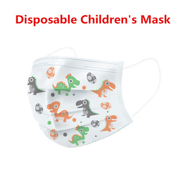 In Stock! 20/50/100 Pcs Cartoon Pattern Mouth Mask Children Breathable Baby 3-layer Disposable Mask Earloop Face Mask 24h Ship