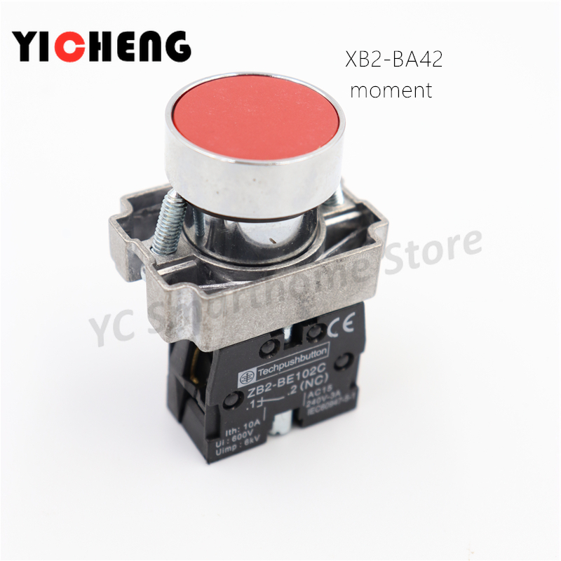 O Push Button Switches 600V 10A 22mm Y090 LAY37 5x Blue Momentary OFF-ON N