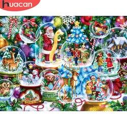 HUACAN 5D DIY Diamond Painting Christmas Full Square Diamond Embroidery Santa Claus Mosaic Cross Stitch Home Decoration
