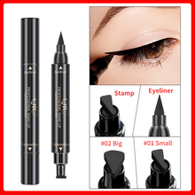 CE068 Double-headed Stamps Eyeliner Cosmetic Waterproof Black Eye Liner Pencil Seal Fast Dry Liquid