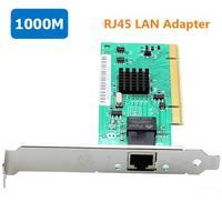 Intel 82540 10/100/1000Mbps Gigabit PCI adattatore per scheda di rete porta RJ45 senza disco 1G scheda Lan Pci Ethernet per PC con dissipatore di calore