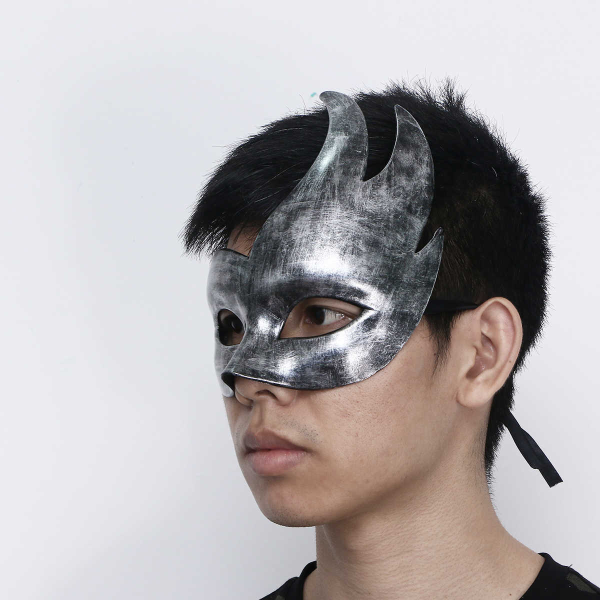 Setengah Wajah Topeng Topeng Masquerade Bola Masker Keren Vintage Masker Dekorasi untuk Pesta Halloween Emas