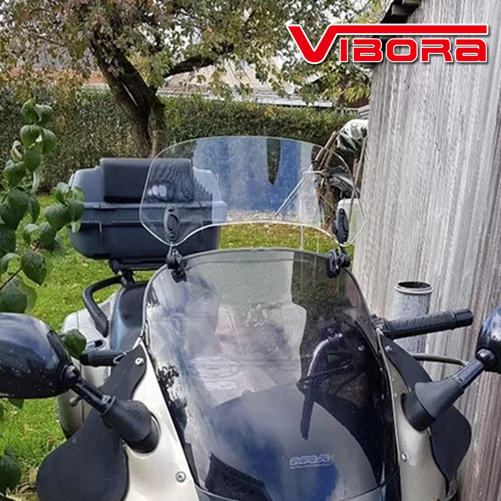 Universal Motorcycle PC Material Windshield Extension Heightening Wind Screen for Honda adv 150 adv150 <font><b>2019</b></font> Forza 300 <font><b>CB500X</b></font> image