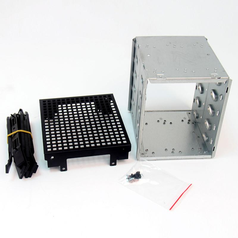 """Large Capacity Stainless Steel HDD Hard Drive Cage Rack SAS 5.25"""" To 5x 3.5"""" SATA Hard Drive Disk For Computer Accessories Qiang"""