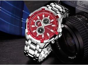 Image 3 - Erkek Kol Saati Curren מותג קוורץ שעון גברים עסקים שעונים עמיד למים Relogio Masculino שעוני יד מקרית Zegarek Meski