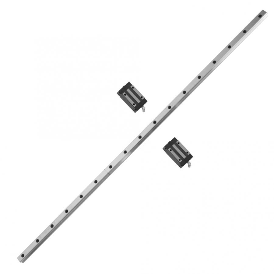 1 pièces HGR20 1000mm Rail de Roulement Linéaire de Rail de Guidage De Mouvement 20mm de Largeur et 2 pièces Transport Bloc Coulissant