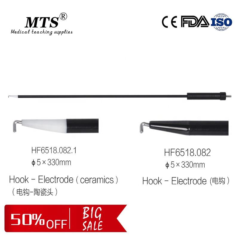 Reusable Laparoscopic Surgical Instruments Monopolar L-type Hook-Electrode Medical Teaching Surgery Electric Hook