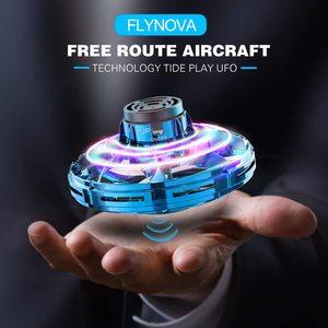 Mini Dron UFO Flynova, Fidget Spinner volador, juguete de inducción operado a mano para niños, cuadricóptero, Dron, Juguetes Dropship