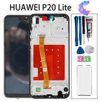 """5.84 """"2280x1080 ips display para huawei p20 lite lcd substituição da tela de toque com quadro original lcd p20 lite ane-lx3 nova 3e"""