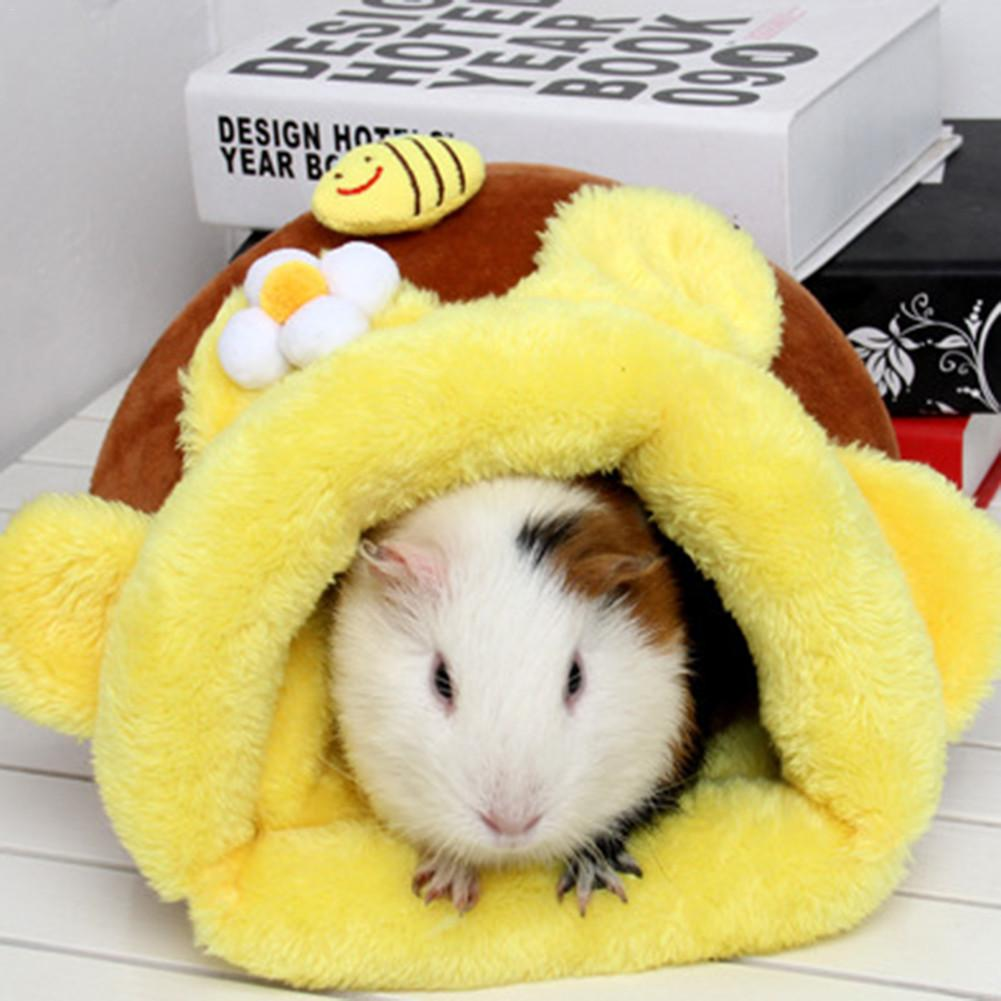 Hamster Cotton Nest Rabbit Warm Nest Plush Pet Bed Comfortable Small Animal Room For Squirrel Hamster Guinea Pig