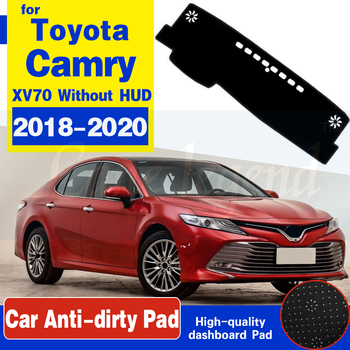 Anti-Slip Mat Dashboard Dash Cover Pad Sunshade Dashmat Protect Carpet Car Accessories For Toyota Camry 70 XV70 2018 2019 2020 image