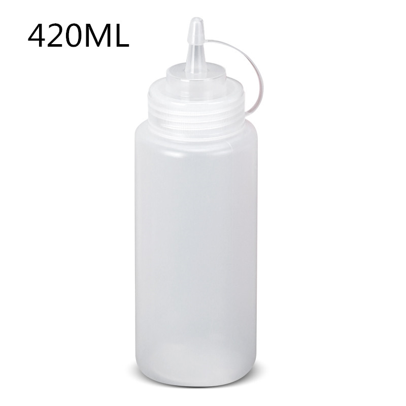 420ML plastic Needle-nosed bottle with Leak-Proof Cap oil,Salad dressing storage container Squeezable food safety image