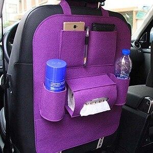 Image 2 - Car Rear Seat Storage  Box Multi pocket Storage Bag for Cadillac XTS SRX ATS CTS/Renault Koleos Fluenec Latitude